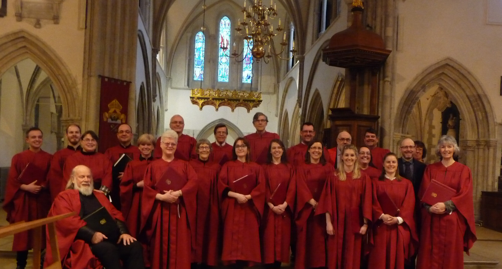 Waltham St Lawrence Church Choir at Portsmouth Cathedral