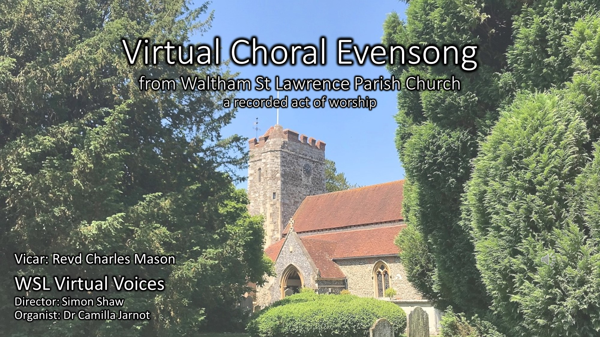 Virtual Choral Evensong Cover